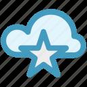 bookmark, cloud, cloud star, favorite, star, storage