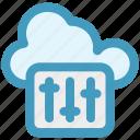 adjuster, cloud, music adjuster, music volume, volume adjuster, volume controller icon