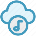 cloud and music note, cloud music concept, cloud with music sign, music cloud, music note, musical cloud icon