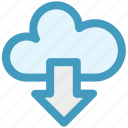 cloud and download sign, cloud computing, cloud downloading, cloud network, cloud upload icon