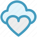 cloud computing, cloud heart, cloud love, heart, online dating, online romance icon