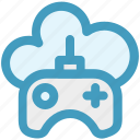 cloud and gamepad, cloud game, cloud with game control, cloud with gamepad, cloud with joystick, joypad icon