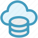 cloud data, cloud system, database, mysql, server, storage icon