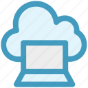 cloud computing, cloud computing concept, cloud monitor, cloud on screen, cloud storage, cloud technology