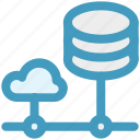 cloud computing, cloud data, cloud system, database, server, storage icon