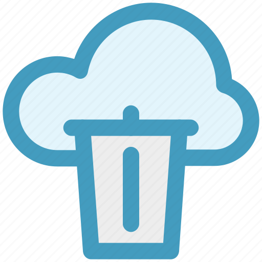 Cloud and dustbin, cloud computing concept, cloud internet recycling, cloud recycle bin, cloud with dustbin icon - Download on Iconfinder