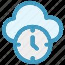 backup, cloud clock, cloud computing, history, schedule, timer