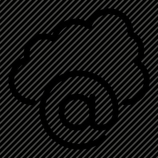 address, cloud, mail, server icon