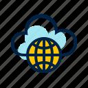 cloud, cloud computing, computing, network, public icon