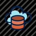 cloud, cloud computing, computing, database, server icon