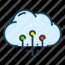 cloud, connect, connection, network, server, service