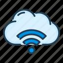 cloud, network, service, signal, wifi, wireless