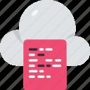 cloud, computing, cloud computation, calculator, internet, digital, server icon
