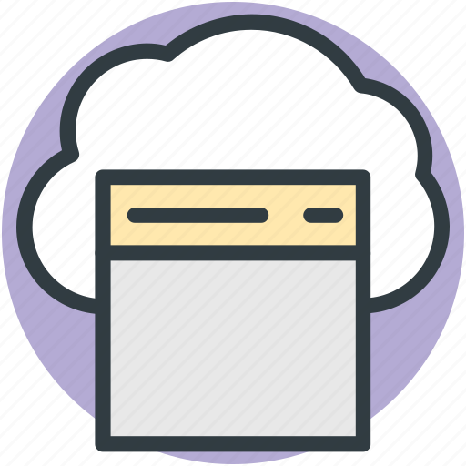 cloud computing, cloud storage, data storage, web element, web page icon