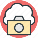 cloud camera, cloud image, cloud photo, cloud picture, online media icon