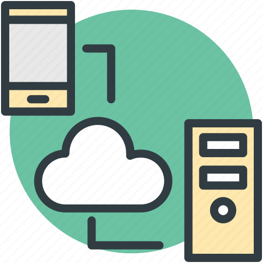 cloud computing, cloud networking, cordless internet, wireless network icon