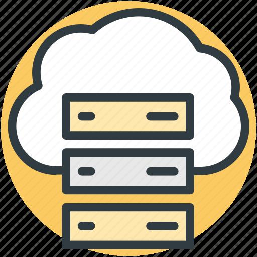 Cloud computing, cloud hosting, data cloud, database, network server icon - Download on Iconfinder