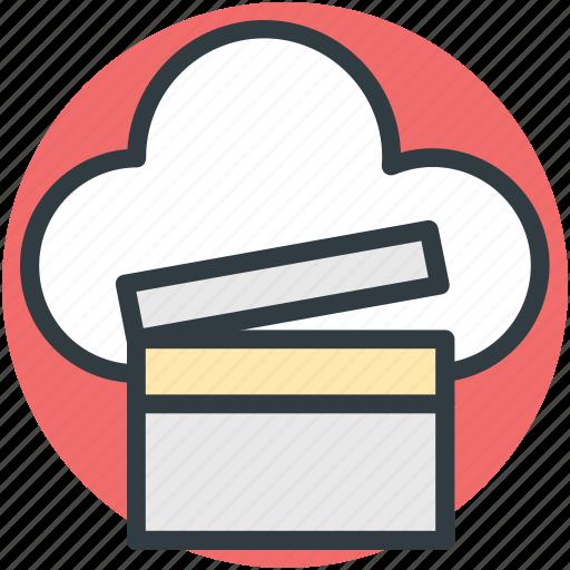 cloud clapper, multimedia cloud, online cinema, online entertainment, online multimedia icon