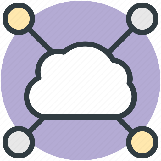 cloud computing, cloud network, cyberspace, social media icon