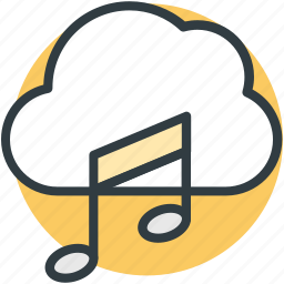 cloud music, music file, online media, online multimedia, online music icon