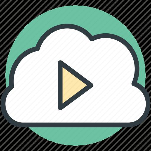 cloud media, cloud multimedia, cloud storage, media storage, online media icon