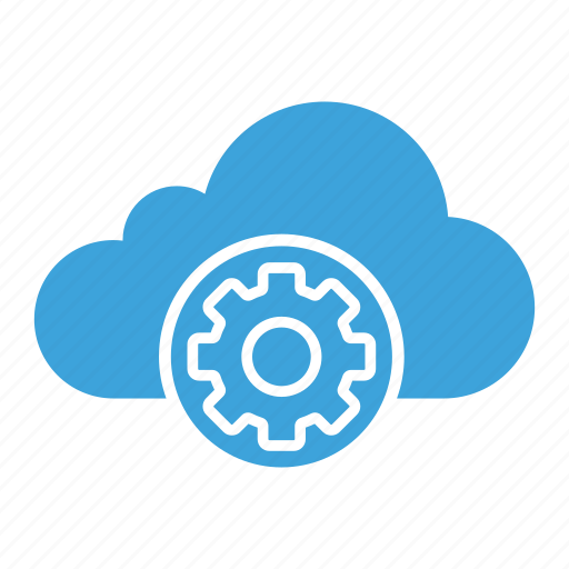 cloud computing, cloud storage, configuration, gear, installation, options, settings icon