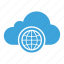 cloud computing, cloud storage, global, internet, network, web, worldwide icon
