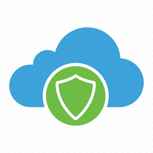cloud computing, cloud storage, defense, protection, safety, security, shield icon
