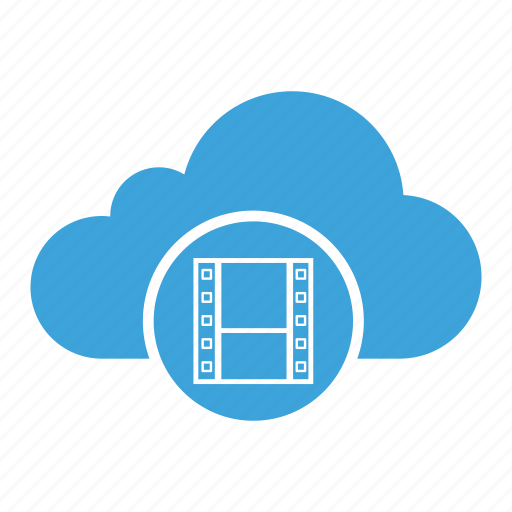 cloud computing, cloud storage, media, record, tape, video, videotape icon