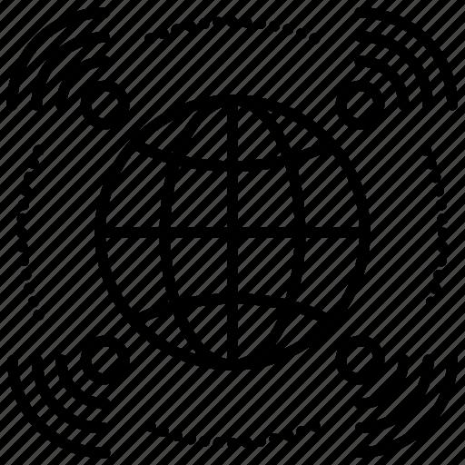 Broadcasting, communication, connection, global, international, transmitting, worldwide icon - Download on Iconfinder