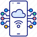 hosted, application, internet, server, smartphone, cloud
