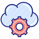 settings, cloud, gear, services, data, storage, options, share
