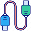 usb, connection, cable, connect, wire