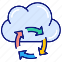 sync, arrows, cloud, computing, refresh, share, storage, syncing