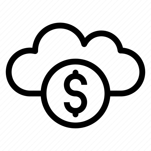 cloud, currency, data, forecast, network, rain icon
