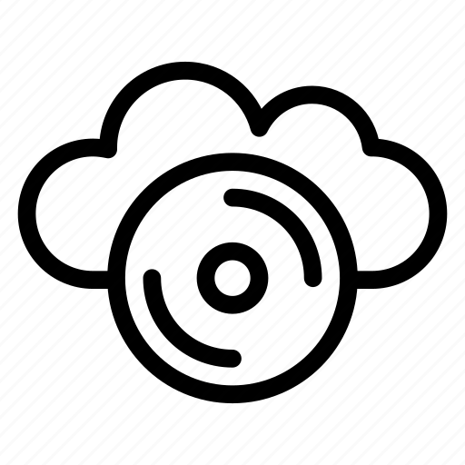 cloud cd, compact disc, disc, music, optical, storage icon