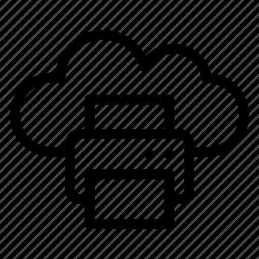 cloud, computing, data, file, network, printer icon