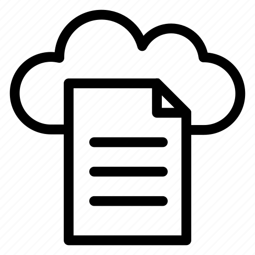Document, cloud, files, web, storage, page icon