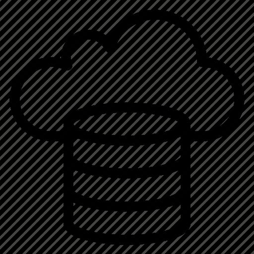 cloud, cloudy, database, forecast, hosting, rain icon