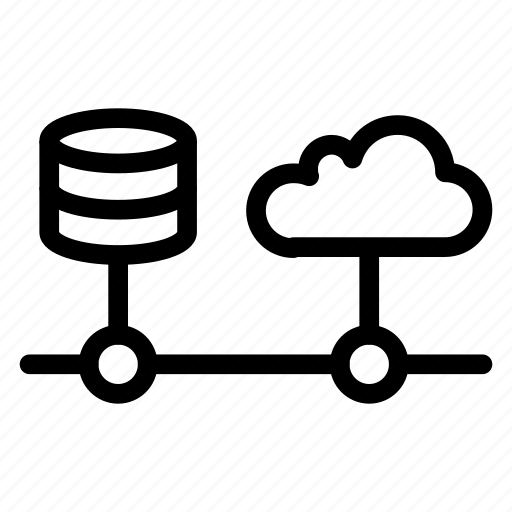 Cloud storage, database, hardware, web, file icon