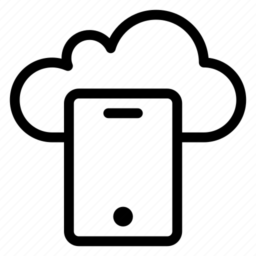 cloud, cloudy, device, forecast, rain, smartphone icon