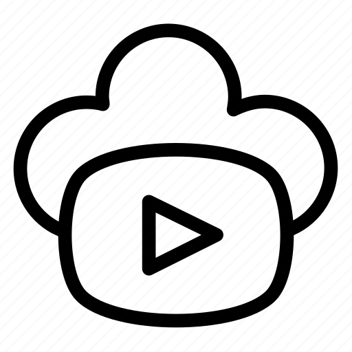 cloud, data, film, forecast, network, video icon