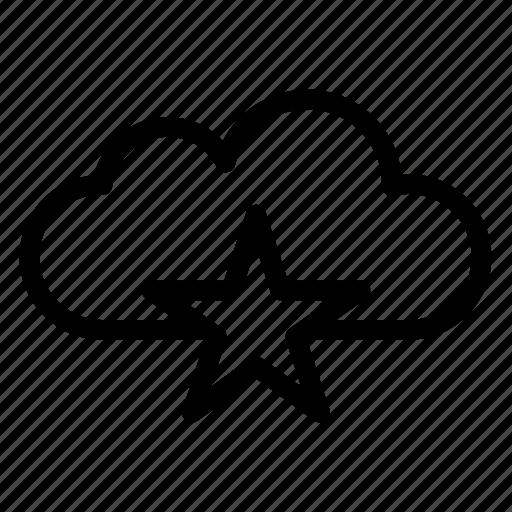 Star, like, cloud, heart, cloudy, rain icon