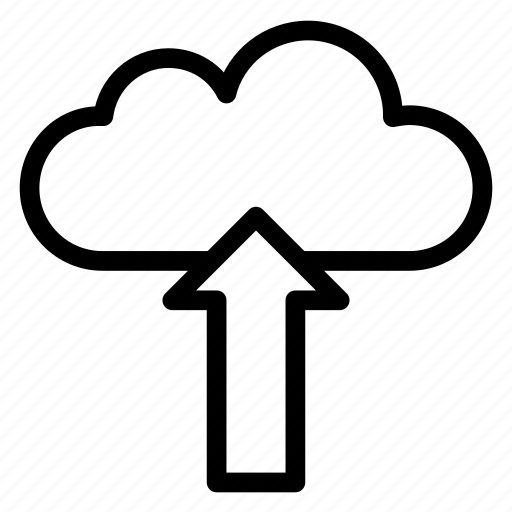 cloud, cloudy, rain, up, upload icon