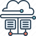 cloud database, connectivity, hosting, server, storage, technology, transfer icon