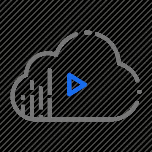 cloud, music, server, services, soundtracks, storage icon
