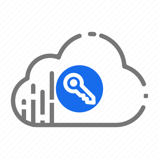 cloud, computing, coud, key, protection, secured, security, services icon