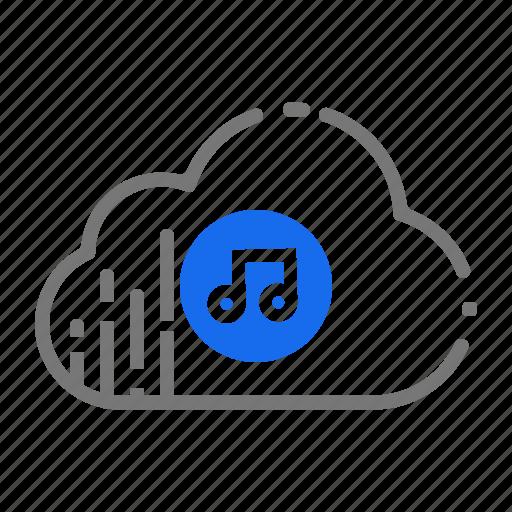 cloud, music, playlist, server, services, soundtracks, storage icon