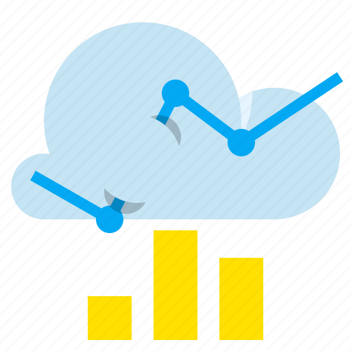 analytics, chart, cloud, graph icon