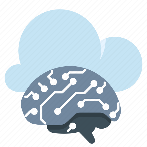 artificial, cloud, computing, intelligence icon